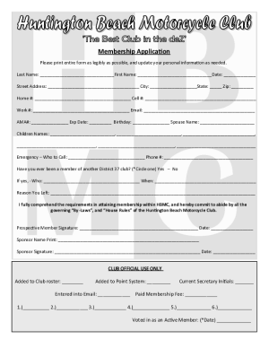 HBMC New Member Application Download